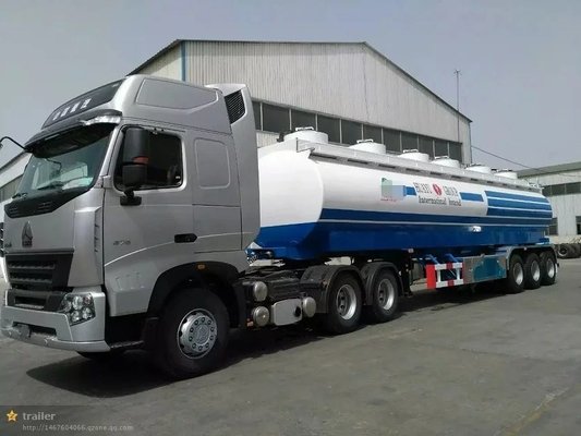 30m3 Tangki Air Truk Semi Trailer, 3 As, Memuat 30t, 3-4 Departemen